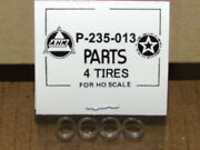 Pack Of 4 P-235-013 Traction Tires For Emd E8 By Ahm Rivarossi In Ho Scale New