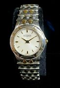 Wittnauer Stainless Steel Two Tone Ladies Timepiece Watch Sapphire Crystal 12l14