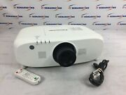 Panasonic Pt-ez770 Wuxga Lcd Projector/ 1545 Lamp Hours W/ Power Cable And Remote