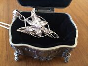 Lord Of The Rings Evenstar Pendant Of Arwen Necklace Sterling Silver 925 Lotr
