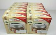 Lot Of 12 Kerr Wide Mouth Mason Lids, Home Canning Jar 144 Lids Total - Fast
