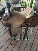 Roping Saddle 15 In Ammerman Shop Made Wade Tree Excellent Condition
