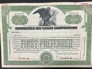 American Banknote Company Specimen Stock Certificate. Associated Dry Goods Co..