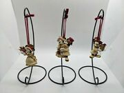 Disney Parks Mickey And Minnie Mouse Christmas Set Of 3 Victorian Ornaments