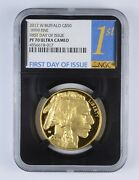 Pf70 Ucam 2017-w 50 American Gold Buffalo 1 Oz .999 Fine Gold Graded Ngc 2356