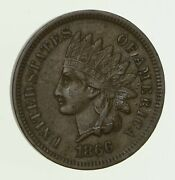 1866 Indian Head Cent - Circulated 5880