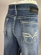 Bke Seth Straight 36l Loose Buckle Stretch Denim Menand039s Jeans 36 X 34 Abs17005