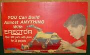 Vintage 1960and039s Erector Set Cardboard Counter Top Store Display Colorful Rare