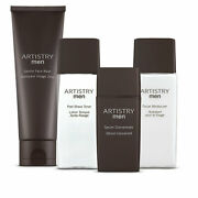Amway Artistry Men System Grooming Moisturize Skin Nourishing 4pc Kit Youth New