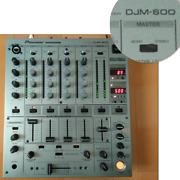 Pioneer Djm-600 Dj Mixer Professional 4-channel Silver Working From Japan