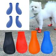 1pair Dog Rain Boots Socks Skidproof Booties For Snow Rain Day Pet Products
