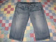 Womenand039s Silver Jeans Size 28 Tuesday Bermuda Low Rise Denim Blue Thick Stitch