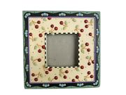 Mary Engelbreit Resin Picture Frame Cherries And Checks Cottage Decor