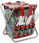 Garden Tool Set With Tote And Folding Seat Detachable Storage Tote All-in-one