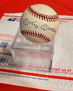 Mickey Mantle Yankees Original Autographed Baseball Bobby Brown Official A.l.
