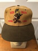 Vtg Avery Outdoors Waxed Buckleback Leather Strap Hunting Cap Hat Usa