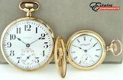 Lot 2 Vintage Pocket Watches Elgin 7 Jewels And Capitol 21 Jewels