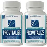2 Bottle Pack Provitalize Probiotic Weight Management Pills Original By N4h