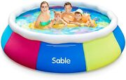 Inflatable Swimming Pool Above Ground Pool 10ft X 30in Pools For Kids And Adults