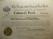 1916 National Guard Latham Reed Certificate Autograph Charles Whitman Governor