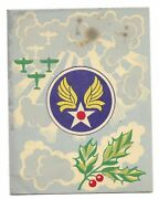 Vintage 1940s World War Ii Us Army Air Corps 1944 Christmas Card Force Wwii 2