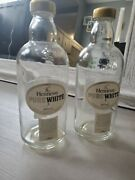 Hennessy Pure White Cognac Bottle Empty Collector 2bottles