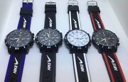 Nike Analog Watch Silicone Band New W/out Tags No Box Black White Red Or Blue