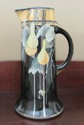 Hand Painted Porcelain Pitcher, Keramic Studio Gourd Design, Arts And Crafts