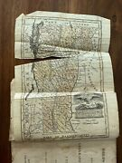 1831 Antique School Book Child's Assistant Geography History Vermont Map 3rd Ed