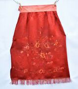 Antique / Vintage Chinese Embroidery / Embroidered Textile Fabric Wedding Skirt