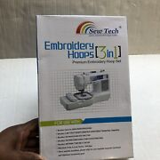 Sew Tech Embroidery Hoops 3in1 For Brother Se600 Pe550d Sb7050e Sewing Machines