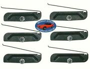 Gm Body Fender Side Rocker 2 To 3-3/4 Trim Moulding Molding Clips And Nuts 6pc R