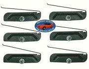 Ford Body Door Side Rocker 2 To 3-3/4 Trim Moulding Molding Clips And Nuts 6pc R