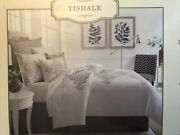 Southern Living Tisdale King Duvet Cover And Shams 100 Cotton Cream Gray New