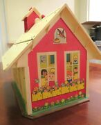 Vintage Toy 1971 Fisher Price School House With Accessories Vgc
