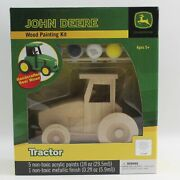 John Deere Wood Painting Kit Tractor With Paint And Brush
