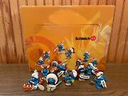 Smurfs - Complete Set Of 8 Indian Smurfs With Display Box