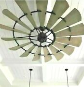 New 60 Windmill Ceiling Fan Bronze Indoor - Outdoor Wall Control Farmhouse