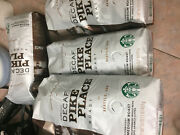 Lot Of 5 Bags Starbucks Decaf Pike Place Whole Bean Coffee-16 Oz Exp July 2021