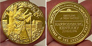 24k Gold On Sterling Silver 34g Medal History Of The American West Franklin Mint