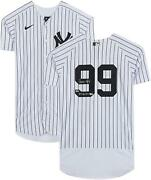 Aaron Judge New York Yankees Signed White Authentic Jersey And 2017 Al Roy Insc