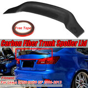 Real Carbon Fiber Highkick Trunk Spoiler Wing For Lexus Is250 Is350 Isf