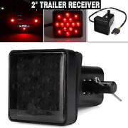 2 Trailer Hitch Receiver Cover With 15 Led Brake Leds Light Tube Cove //
