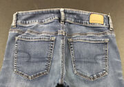American Eagle Artist Light Wash Jeans Womens Size 6 X-long Super Stretch