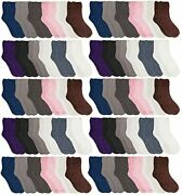 Yacht And Smith Women Fuzzy Crew Socks,warm Butter Soft 240 Pairs Neutral Colors