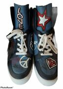 Cosmo Iconic Mk Logo Graffiti Heart Sneakers Size 10 Rare Shoes Nyc
