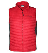 Columbia Mens' Red And Gray South Valley Light Weight Vest Size Large