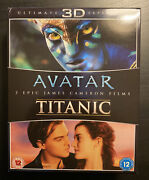 Avatar And Titanic 3d - James Cameron Blu-ray Disc, 3d, 2013 2 Pack Combo Lot