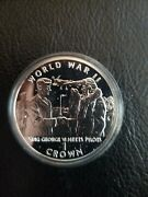 Gibraltar 1994 D-day 1 Crown Silver Proof Coin King George Iv Meets Pilots Wwii
