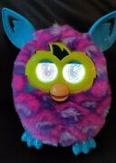 2012 Boom Purple Waves Furby - Pink Blue Teal Tested And Works